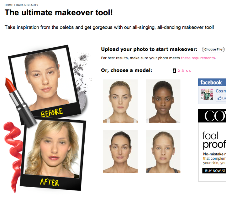 Cosmopolitan Beauty Makeover Tool