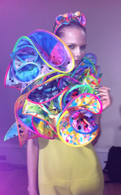 Fred Butler LFW SS12 Rainbow design
