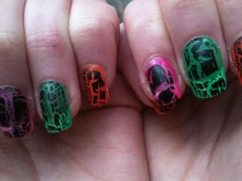 mock croc nails snake skin