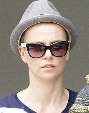 charlize theron shaved hair