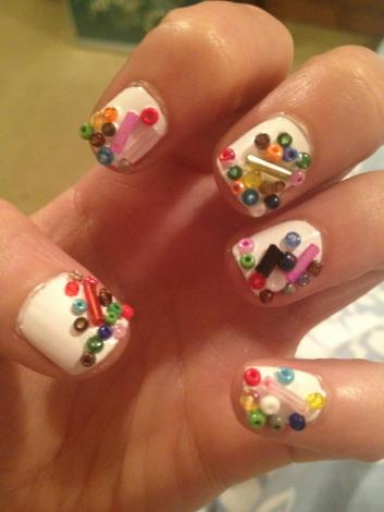 bead nail art
