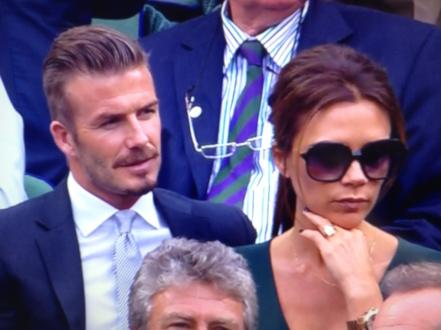 David and Victoria Beckham Wimbledon 2012