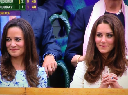 Kate Middleton Pippa Middleton Wimbledon 2012